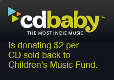 CDBaby is donating $2 per CD sold back to Children's Music Fund, and Christmas in the Northwest