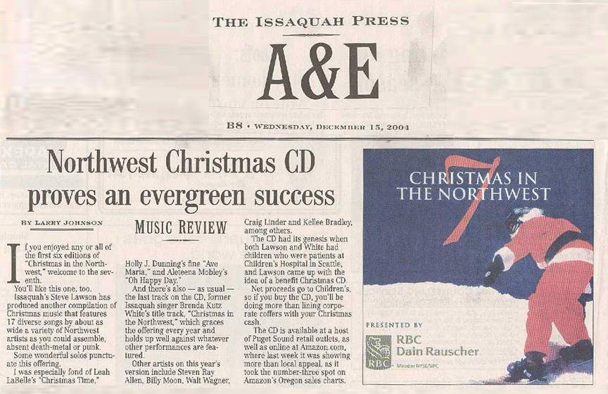 Christmas in the Northwest in the Issaquah Press 2004